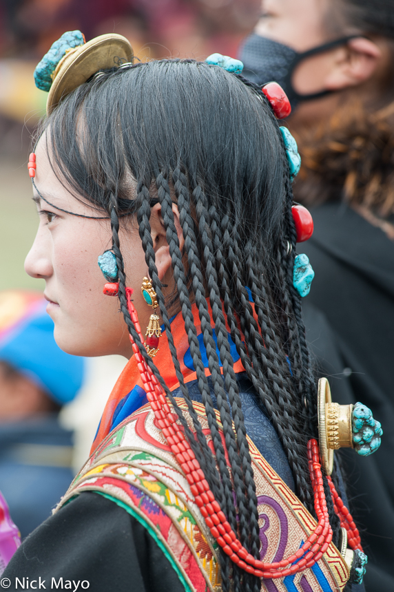 China,Festival,Hair,Hair Piece,Sichuan,Tibetan, photo