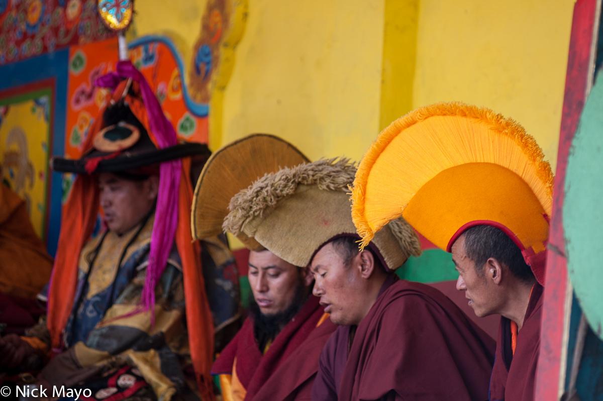 China,Festival,Hat,Monk,Sichuan,Tibetan, photo