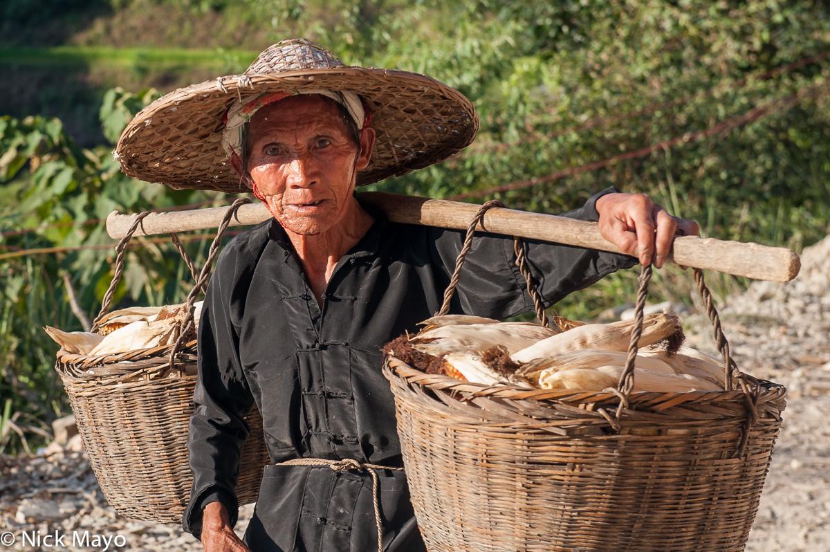 China,Corn Cob,Dong,Guizhou,Shoulder Pole, photo