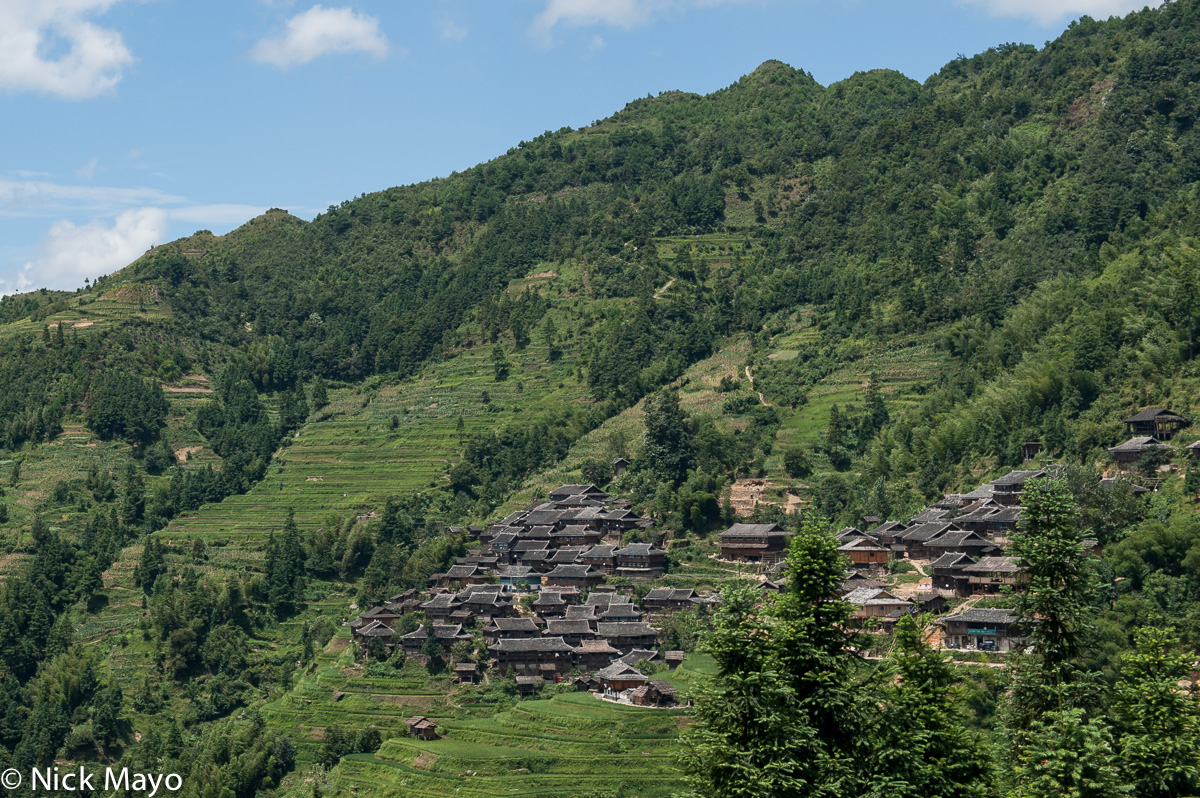China,Guizhou,Paddy,Roof,Village, photo