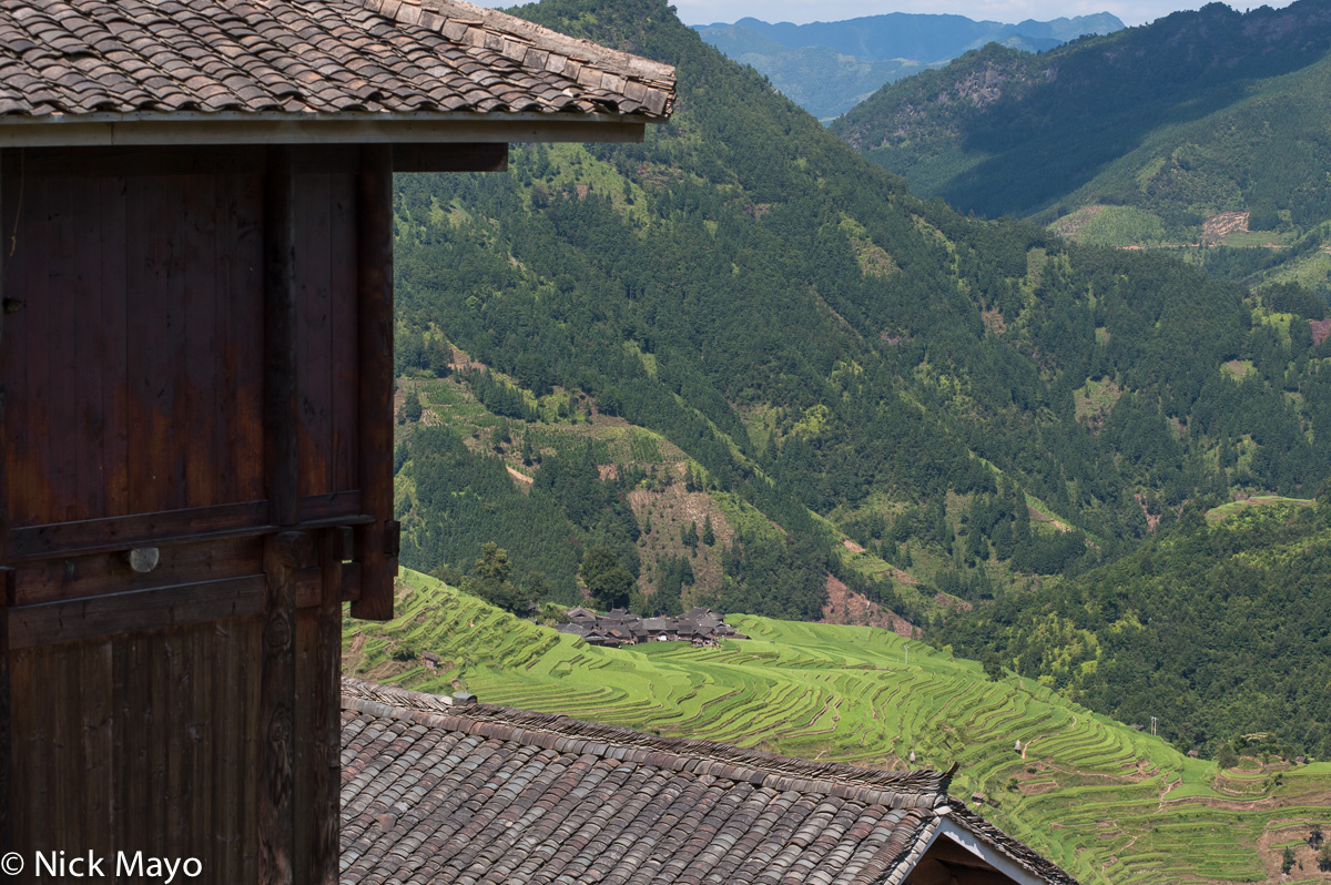 China,Guizhou,Paddy,Roof,Village, photo