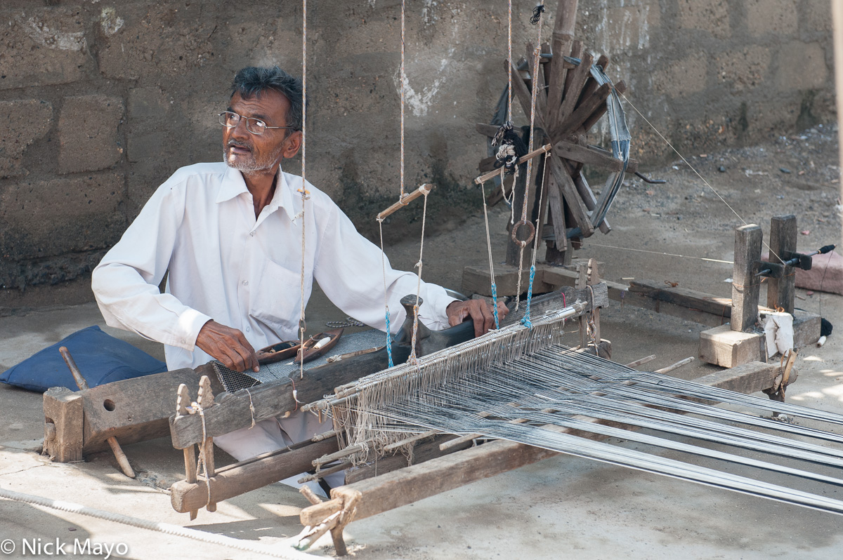 Foot Treadle Loom,Gujarat,India,Weaving, photo