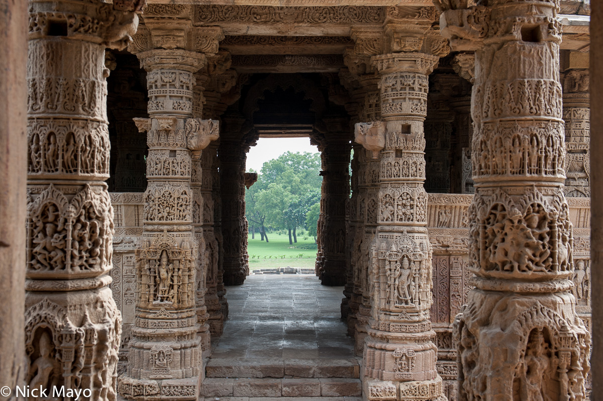 The assembly hall of the Sun Temple at Modhera.