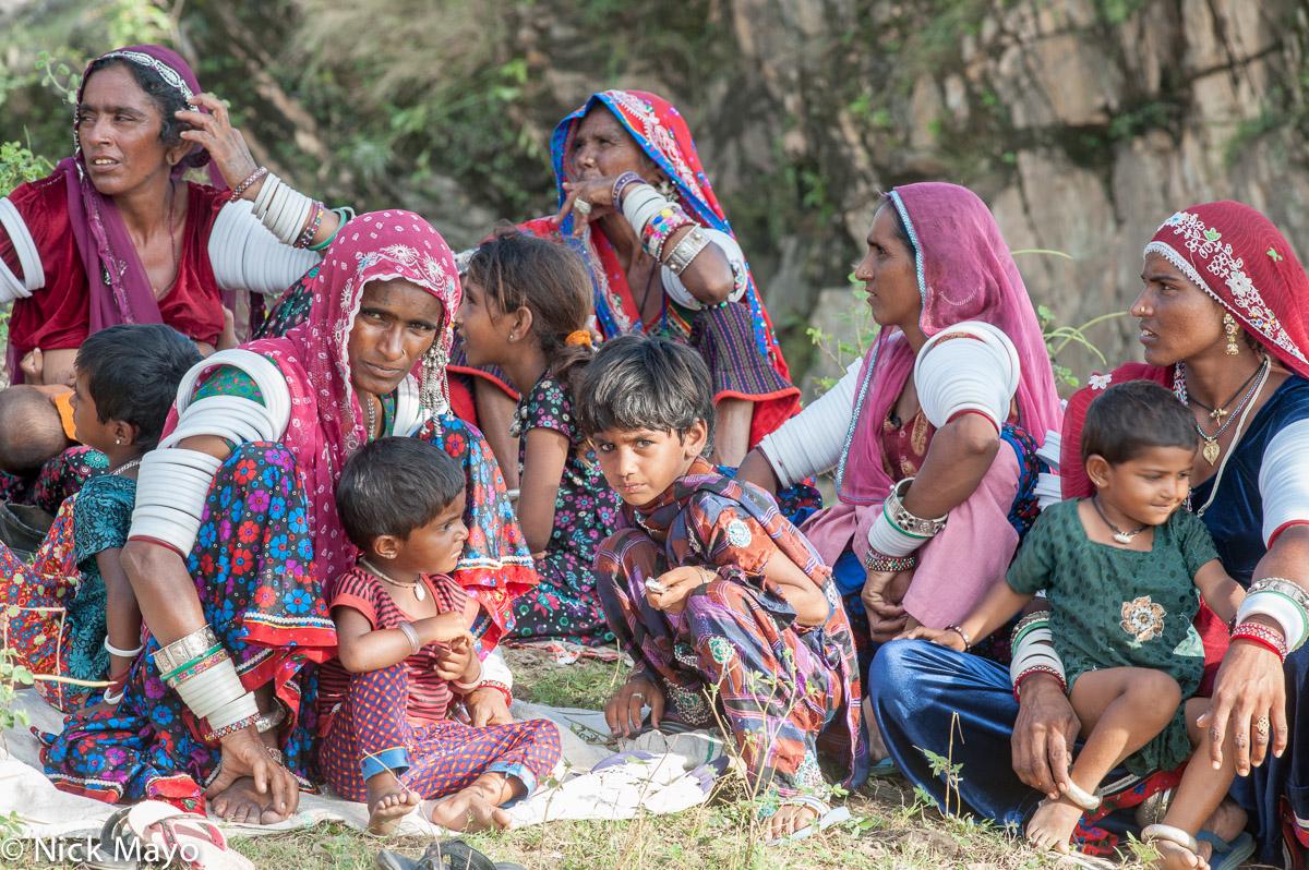 Bangle,Bracelet,Gujarat,Head Scarf,India,Necklace,Nose Stud,Rabari, photo