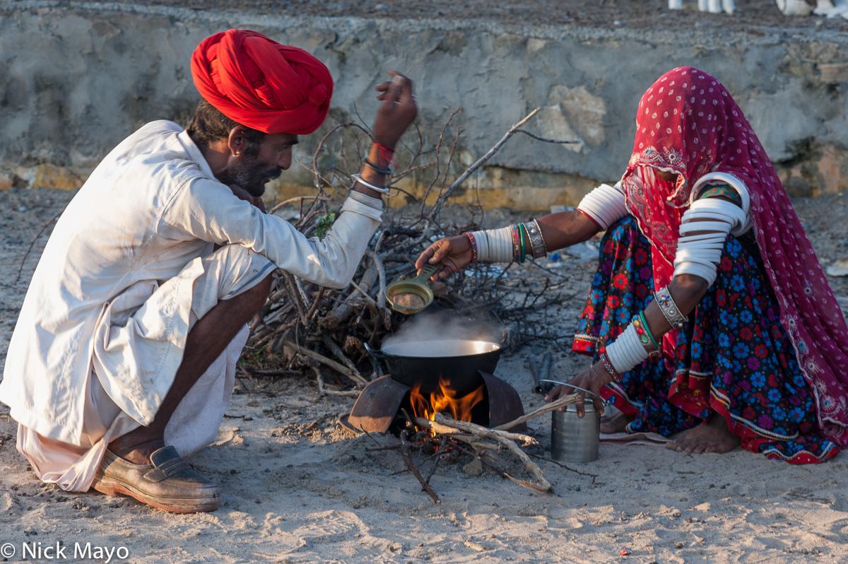 Cooking,Gujarat,India,Rabari, photo