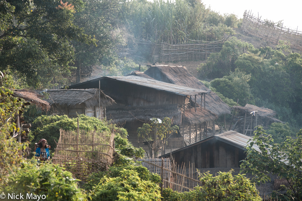 Laos,Phongsali,Village,Thatch, photo