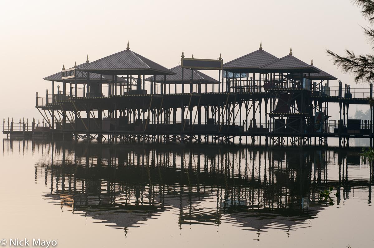 A pavilion on Mandalay Kantawgyi lake.