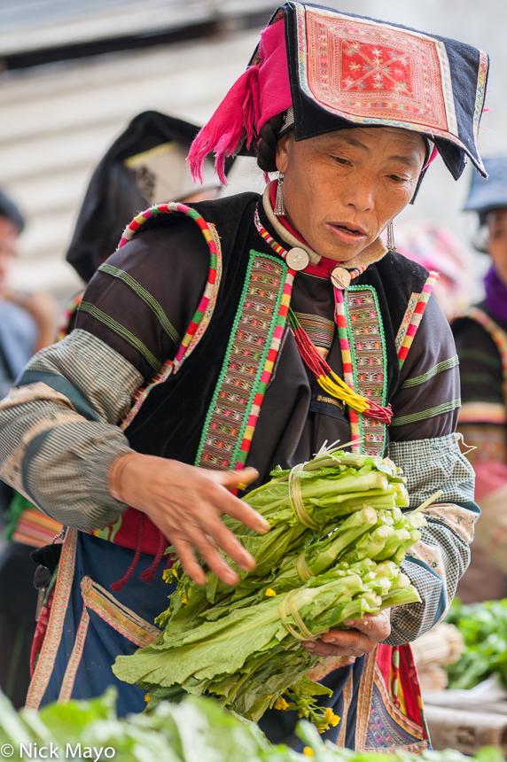 China,Market,Turban,Yi,Yunnan, photo