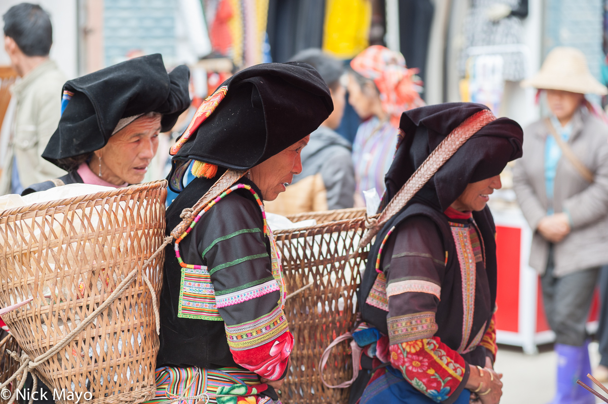 Basket,China,Market,Shopping,Yi,Yunnan, photo