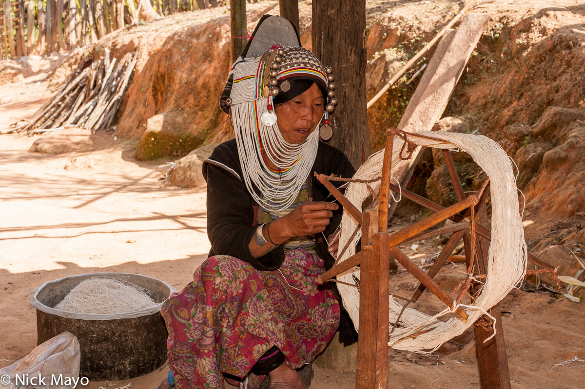 Burma,Hani,Shan State,Spindle,Spinning, photo