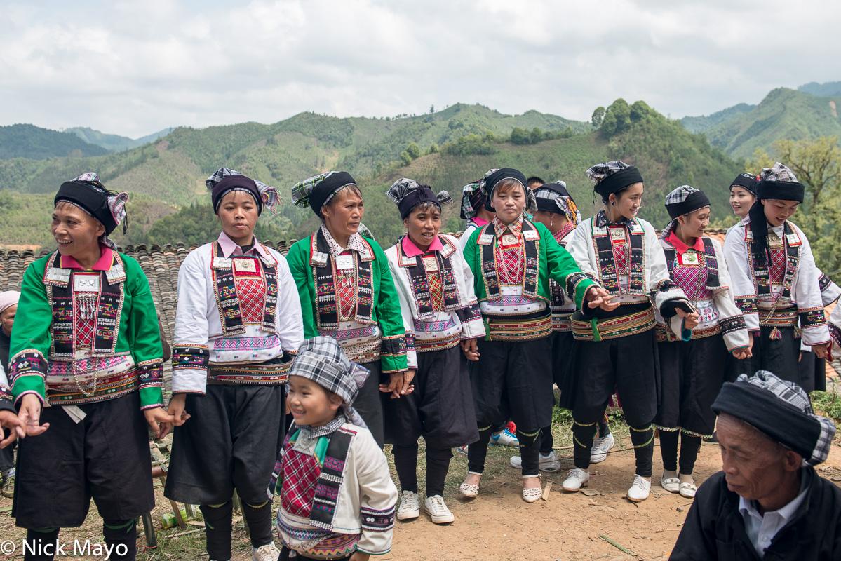 China,Dancing,Festival,Guangxi,Head Scarf,Leggings,Necklace,Yi, photo