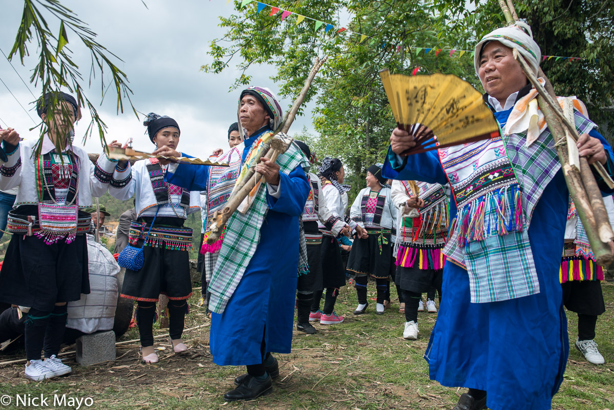 Bimaw,China,Festival,Guangxi,Head Scarf,Leggings,Yi, photo