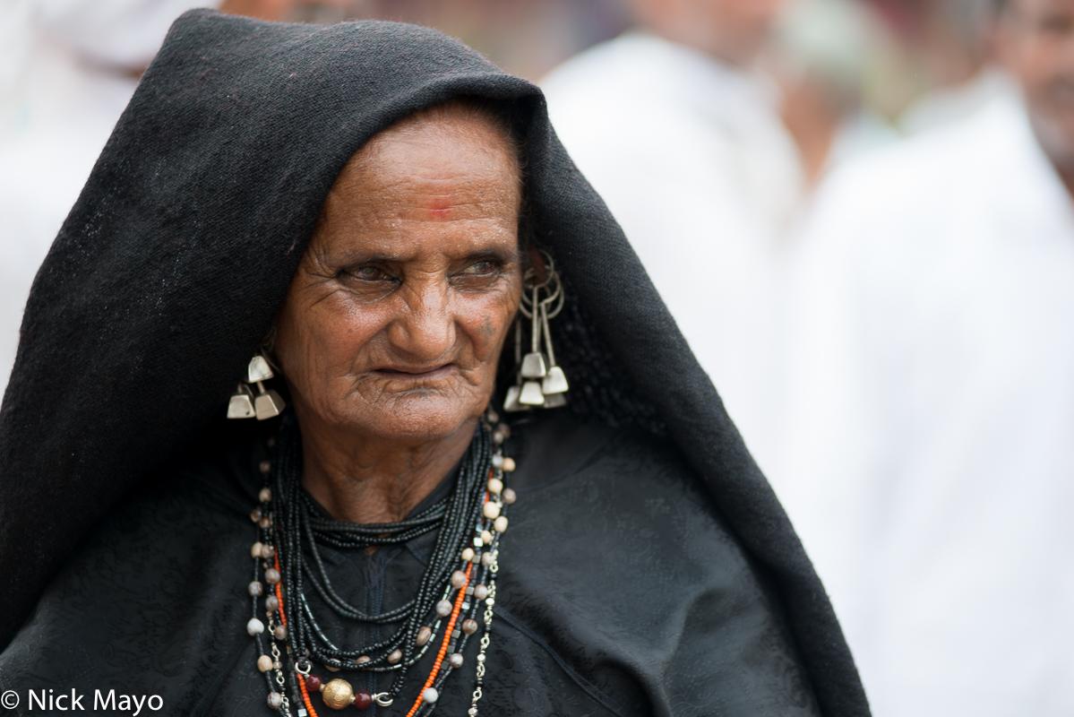 Earring,Festival,Gujarat,Head Scarf,India,Necklace,Rabari, photo