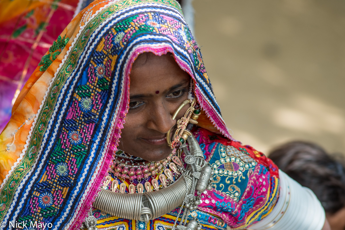 Festival,Gujarat,Head Scarf,India,Necklace,Nose Ring, photo