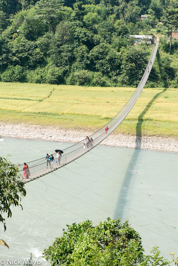 Bridge,Nepal,Western Hills, photo
