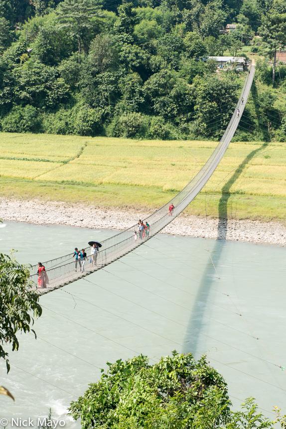 A suspension bridge near Taruka Ghat.