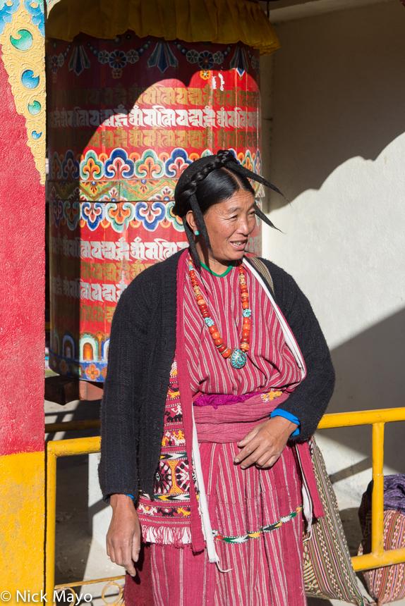 Arunachal Pradesh,Festival,Hat,India,Monpa,Necklace,Prayer Wheel, photo