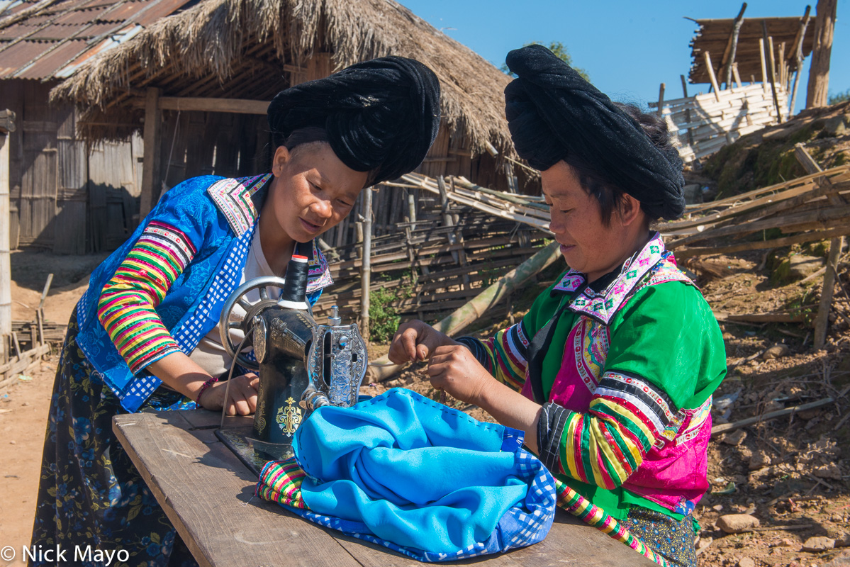 Burma,Miao,Sewing Machine,Shan State, photo