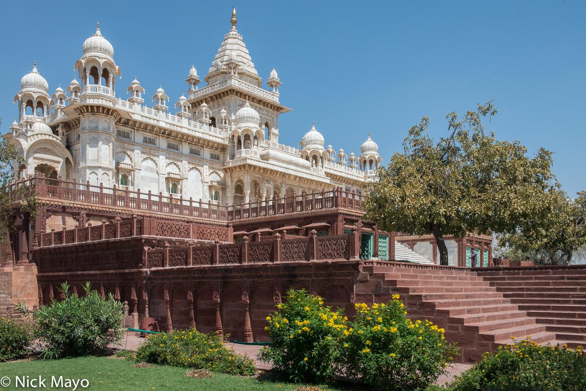 The Jaswat Thaba palace at Jodhpur.