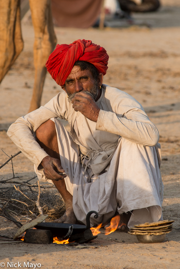 Chapati,Cooking,Festival,India,Rabari,Rajasthan,Turban, photo