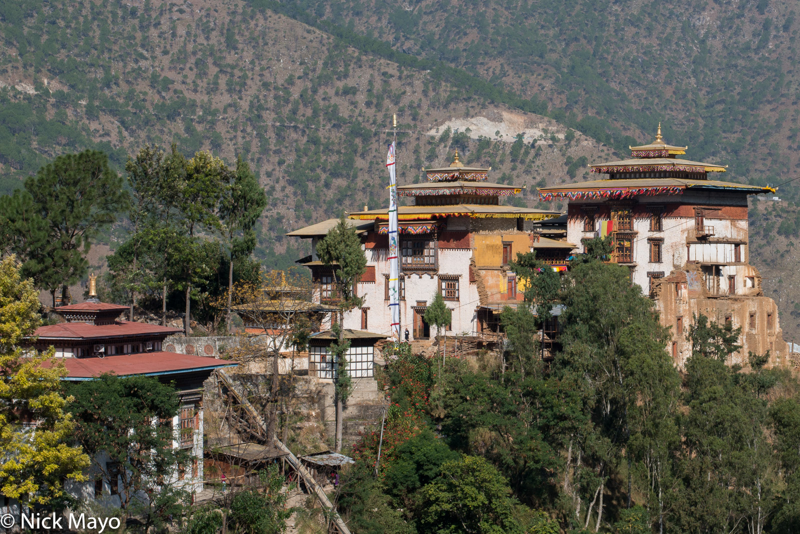 Bhutan,Dzong,East,Roof, photo