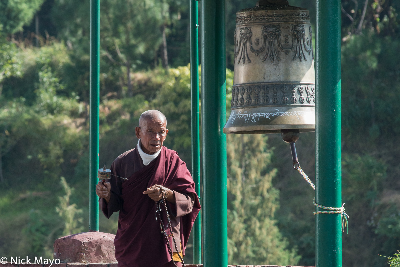 Bell,Bhutan,East,Monk,Prayer Beads,Prayer Wheel, photo