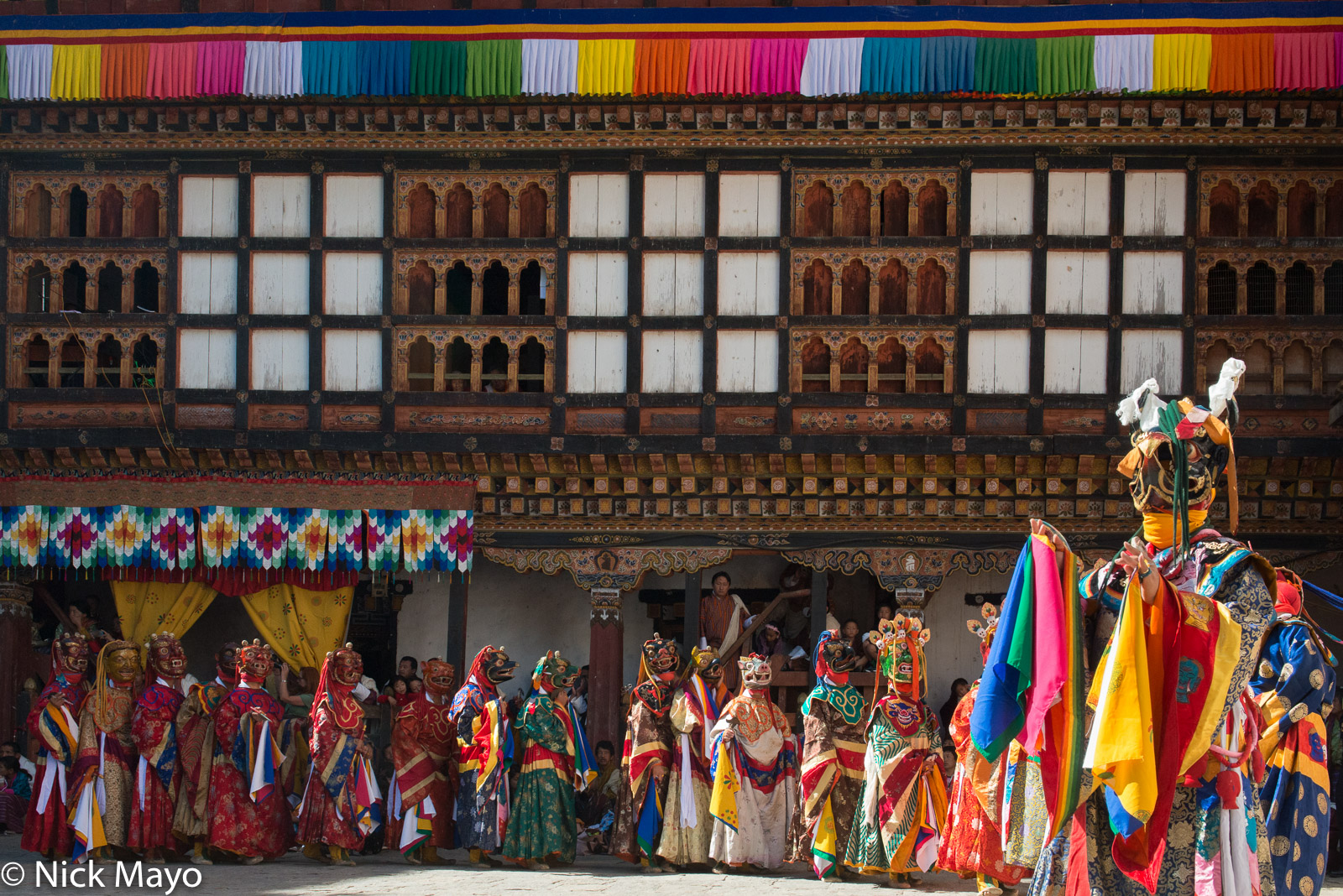 Bhutan,Dzong,East,Festival,Monk,Procession, photo