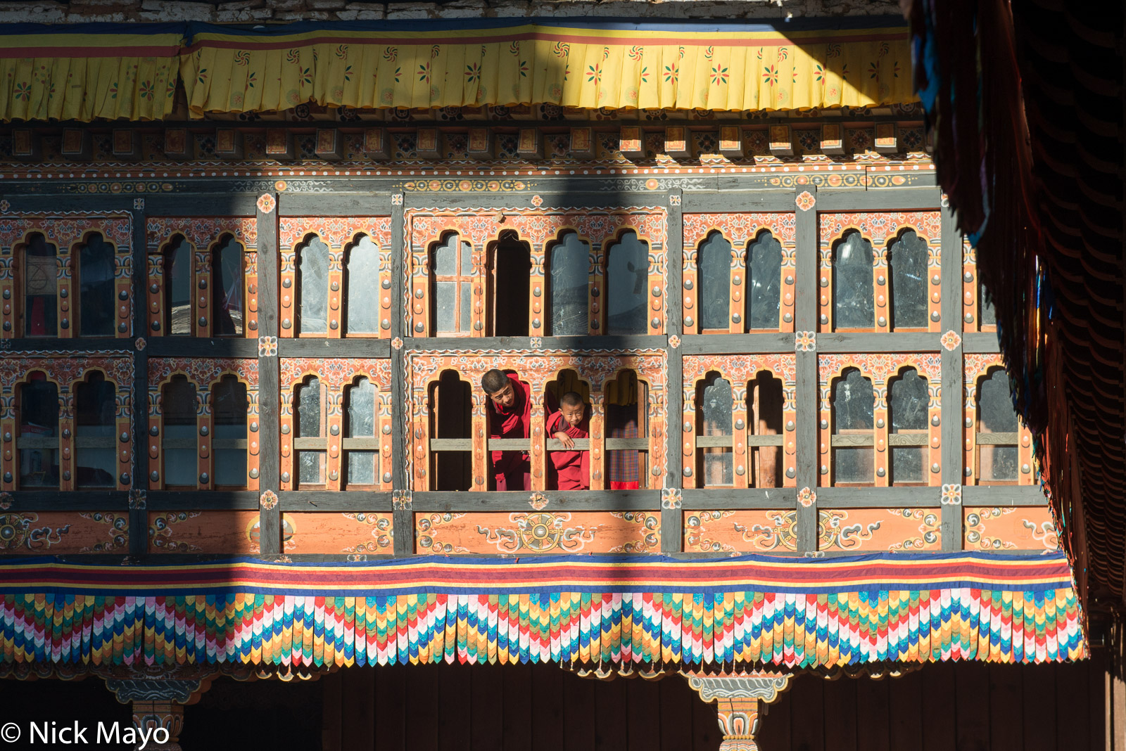 Bhutan,Dzong,East,Festival,Monk,Window, photo