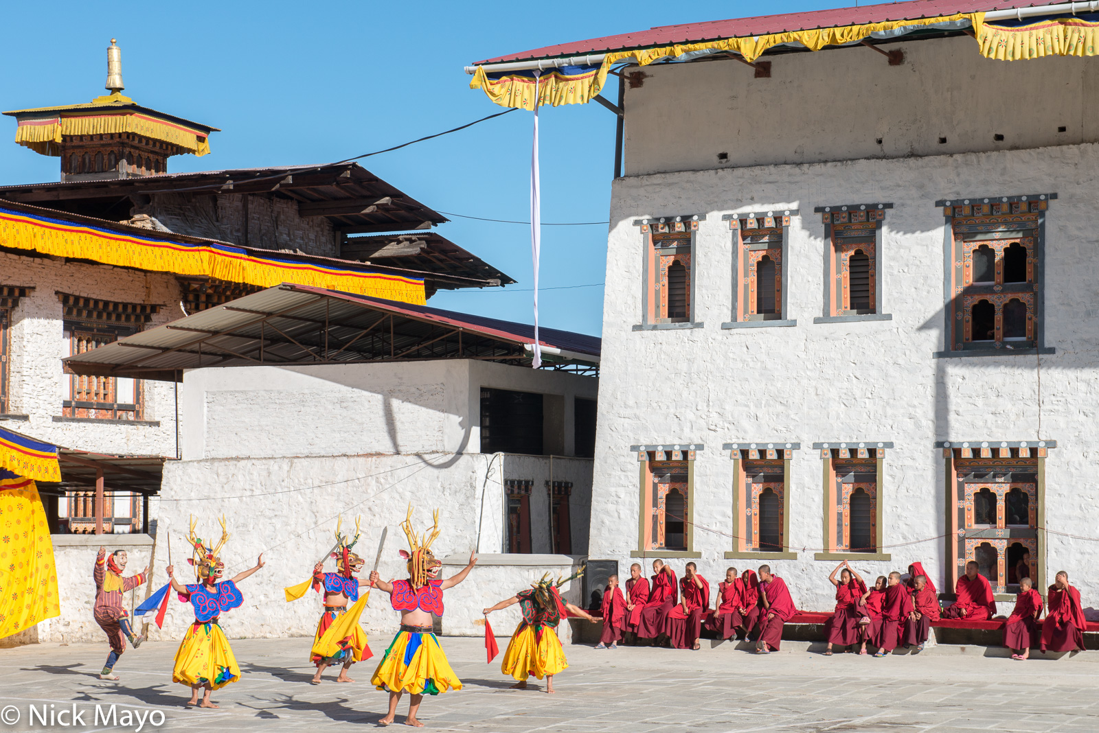 Bhutan,Dancing,Dzong,East,Festival,Monk, photo