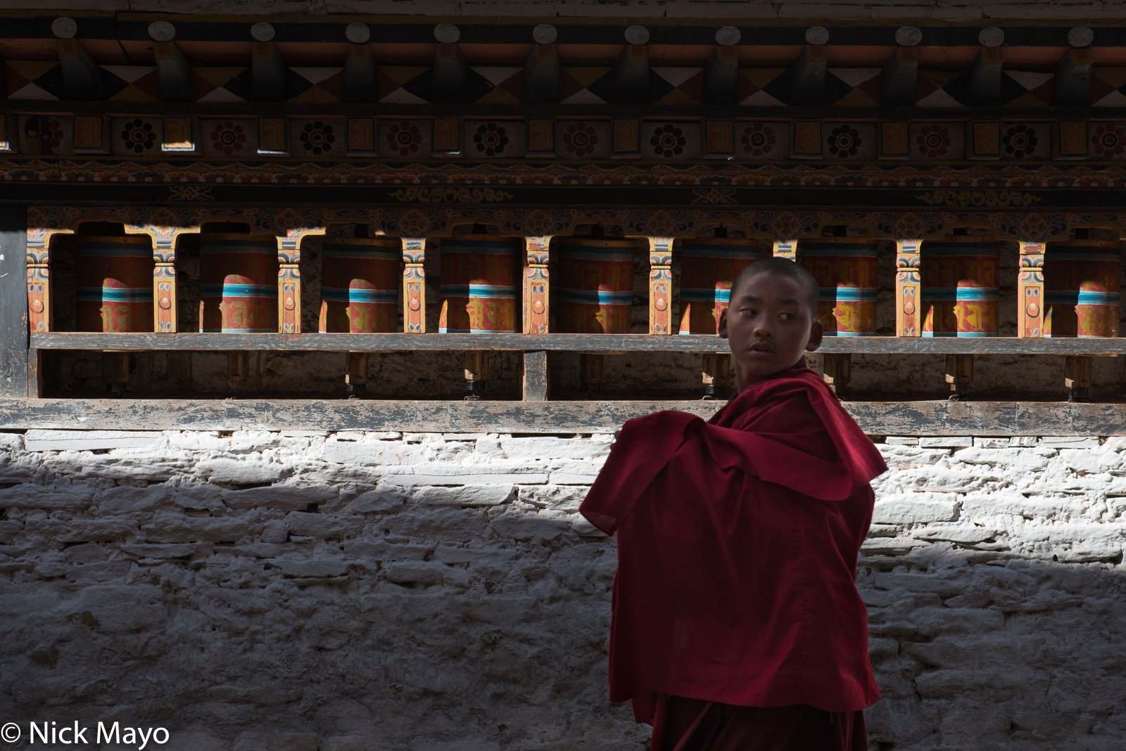Bhutan,East,Festival,Monk,Prayer Wheel, photo