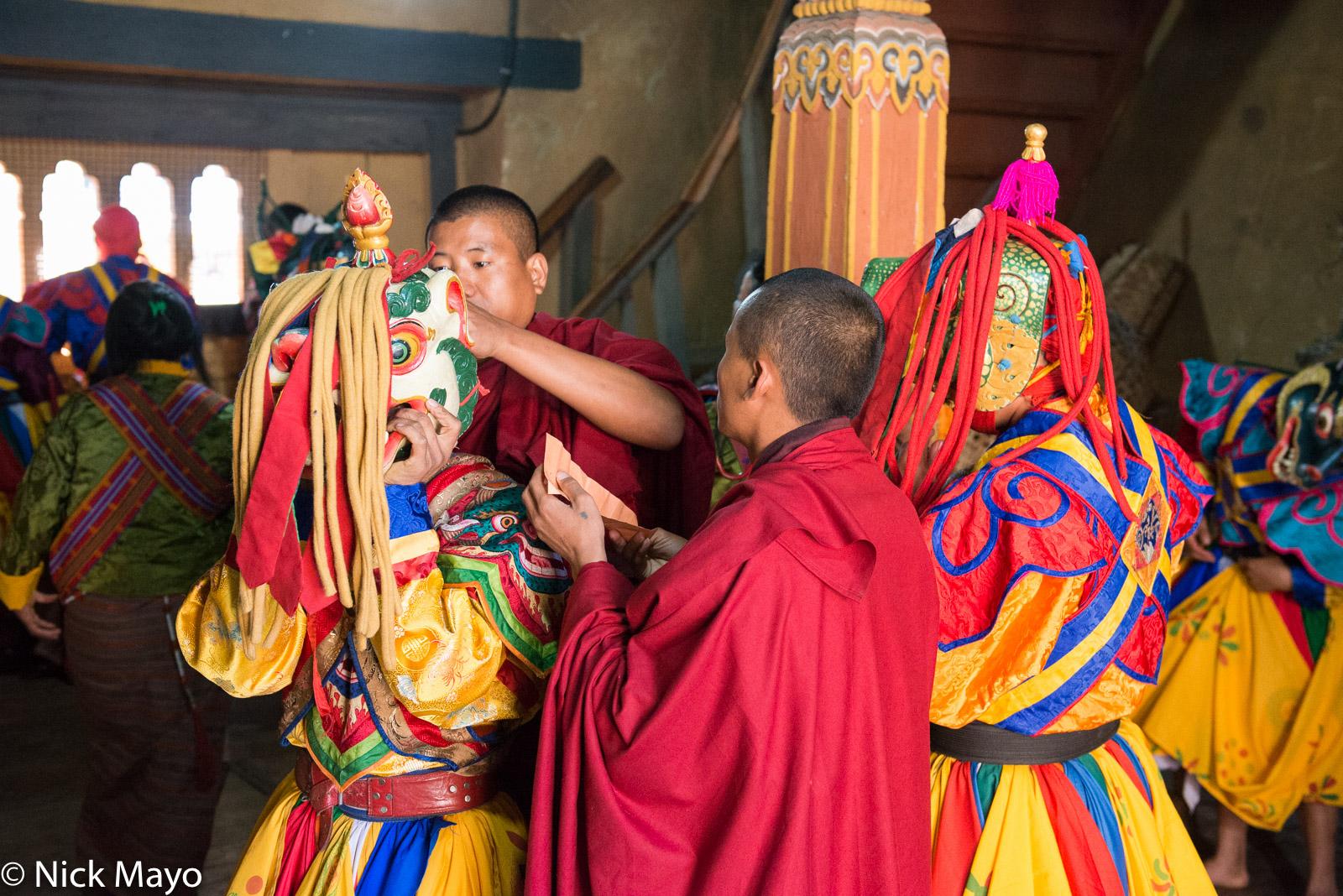 Bhutan,East,Festival,Mask,Monk, photo