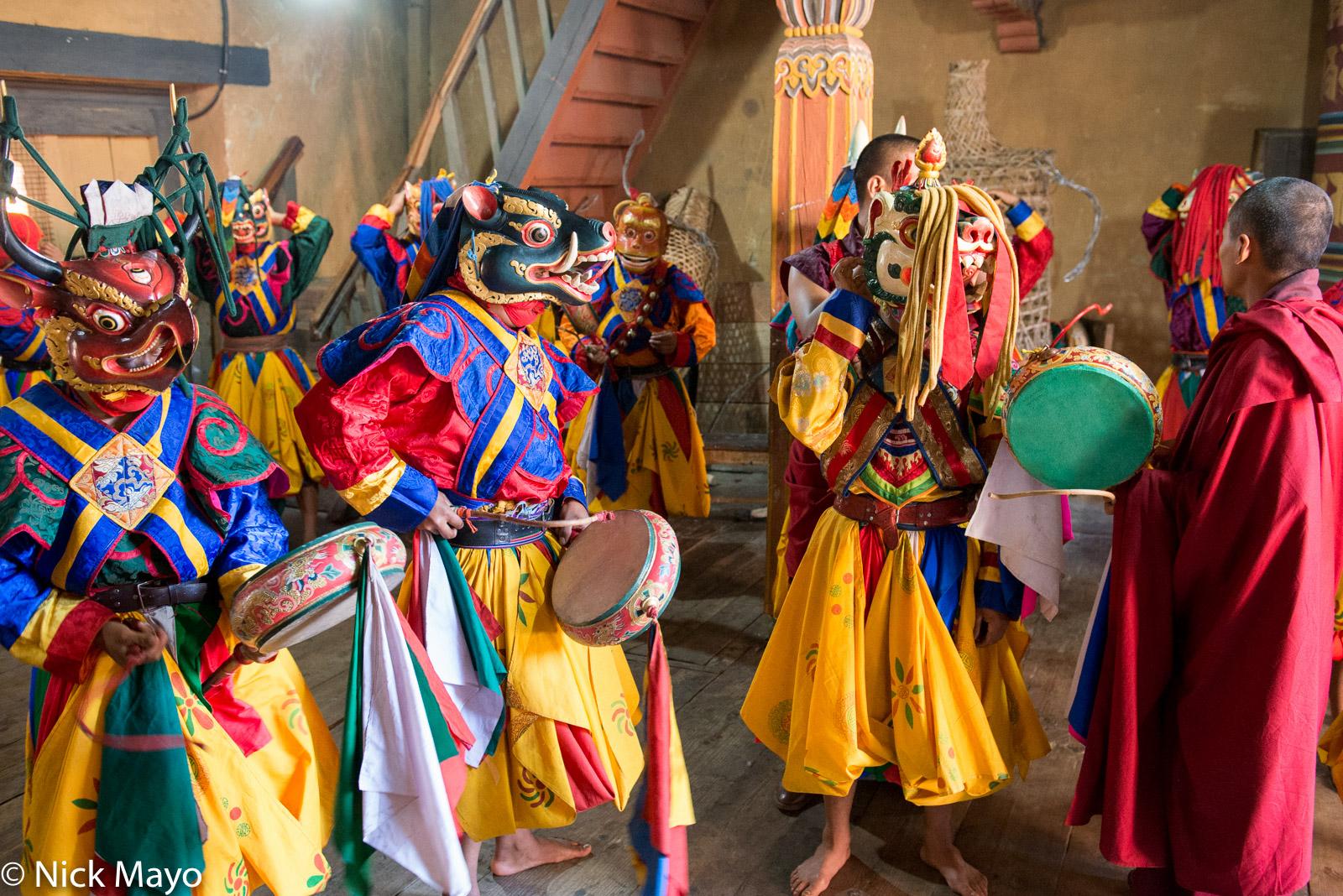 Bhutan,Drum,East,Festival,Mask,Monk, photo