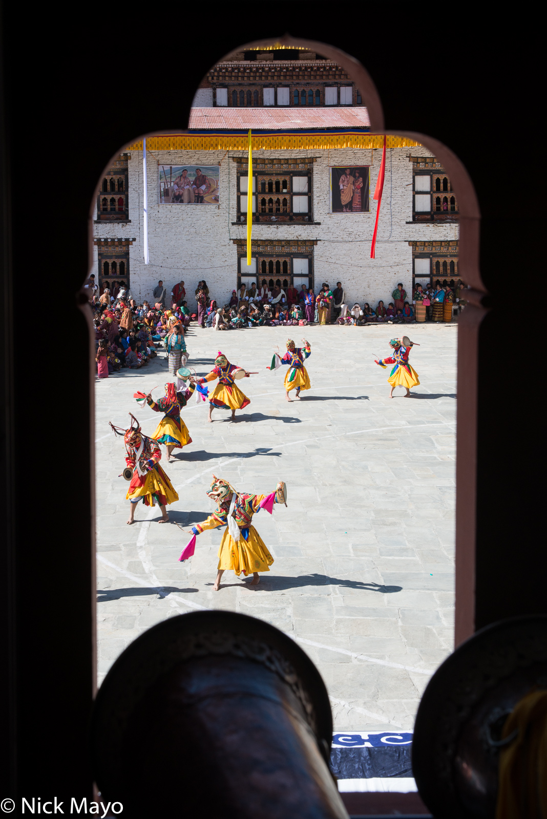Bhutan,Dancing,Dzong,East,Festival,Mask,Monk, photo