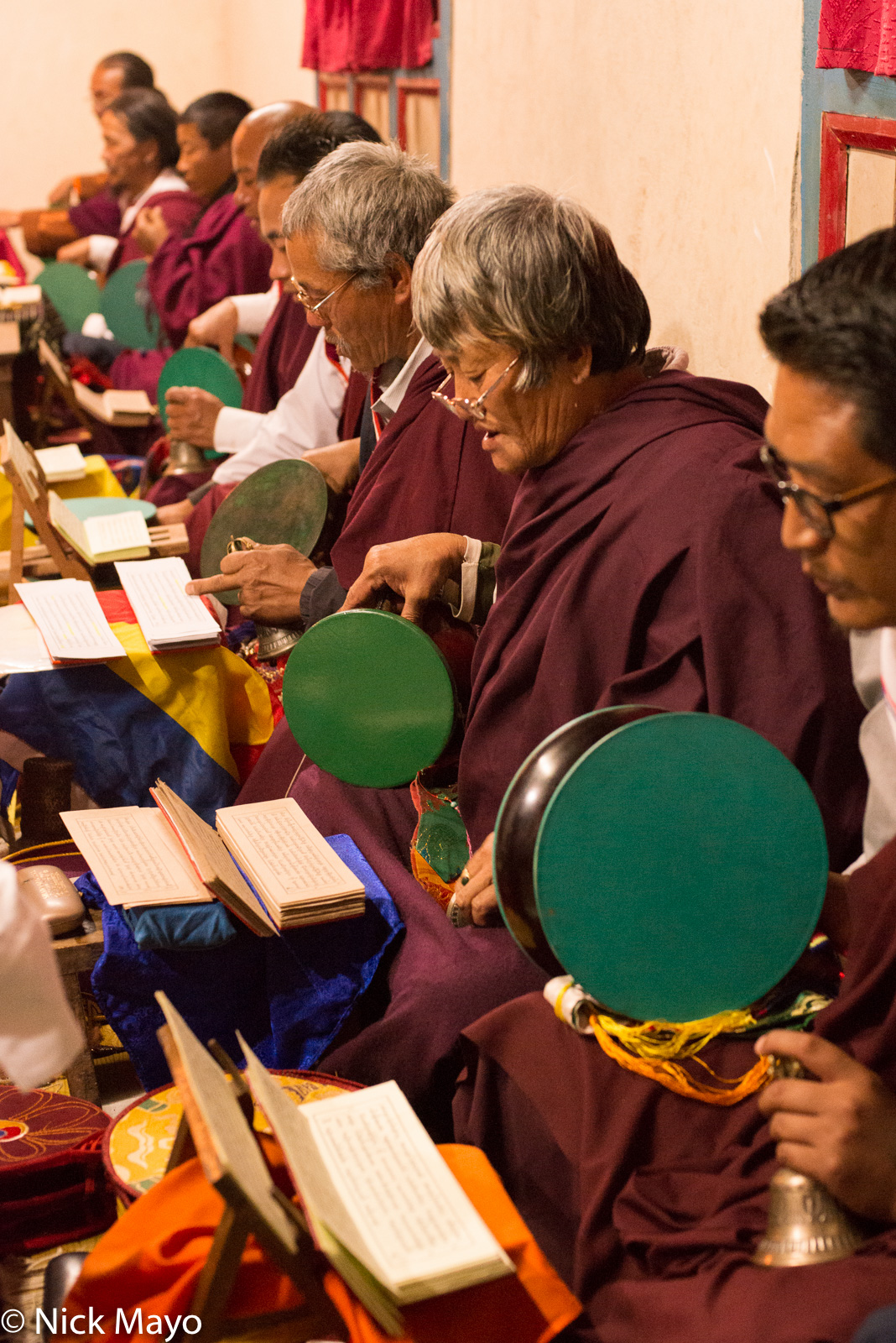 Bhutan,Chanting,Drum,East,Scripture, photo
