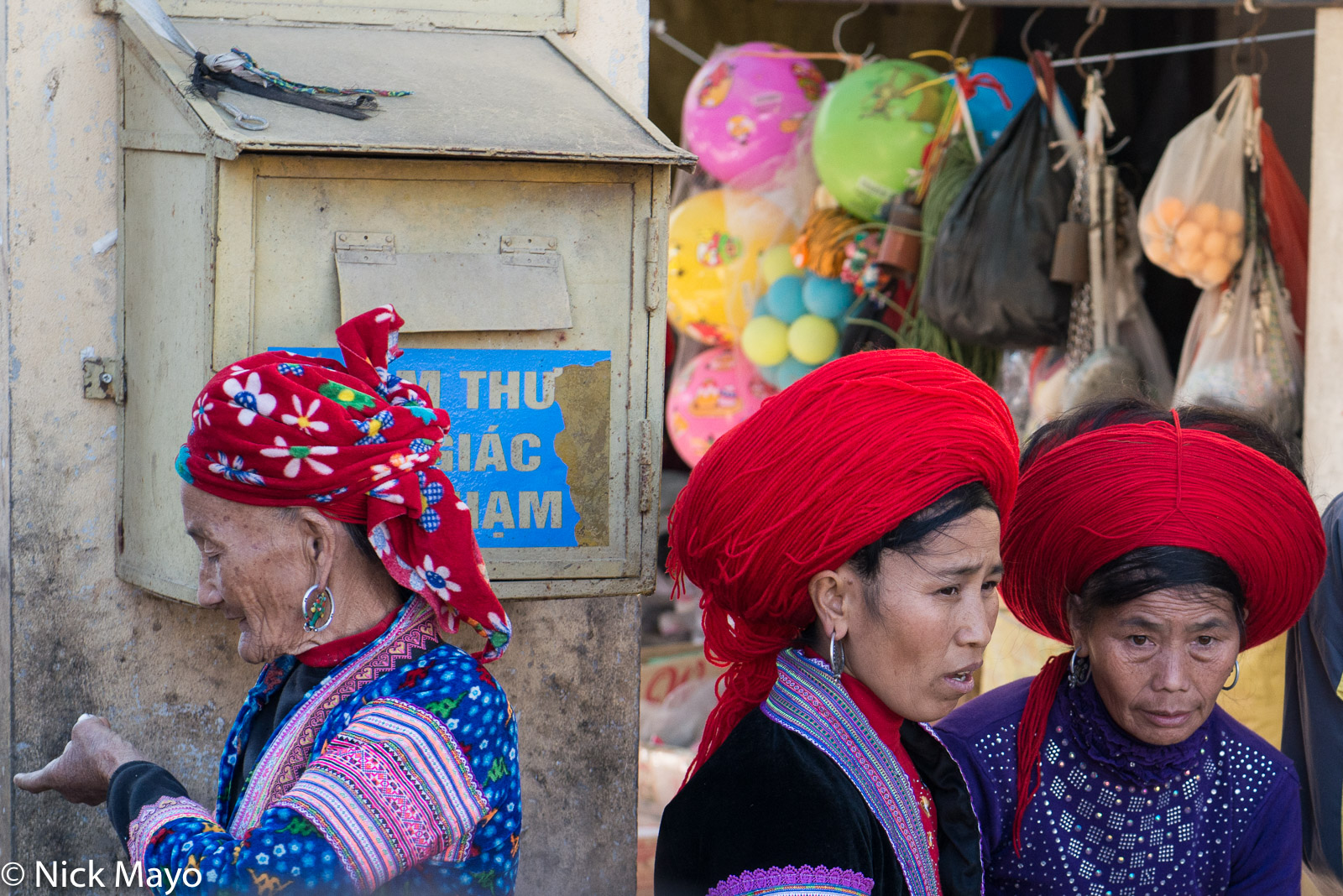Hair Piece, Head Scarf, Lai Chau, Miao, Vietnam, photo