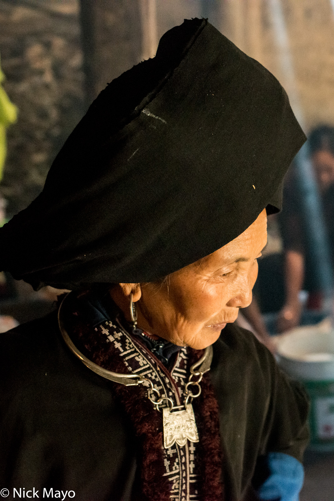 Earring, Lai Chau, Necklace, Turban, Vietnam, Yao, photo