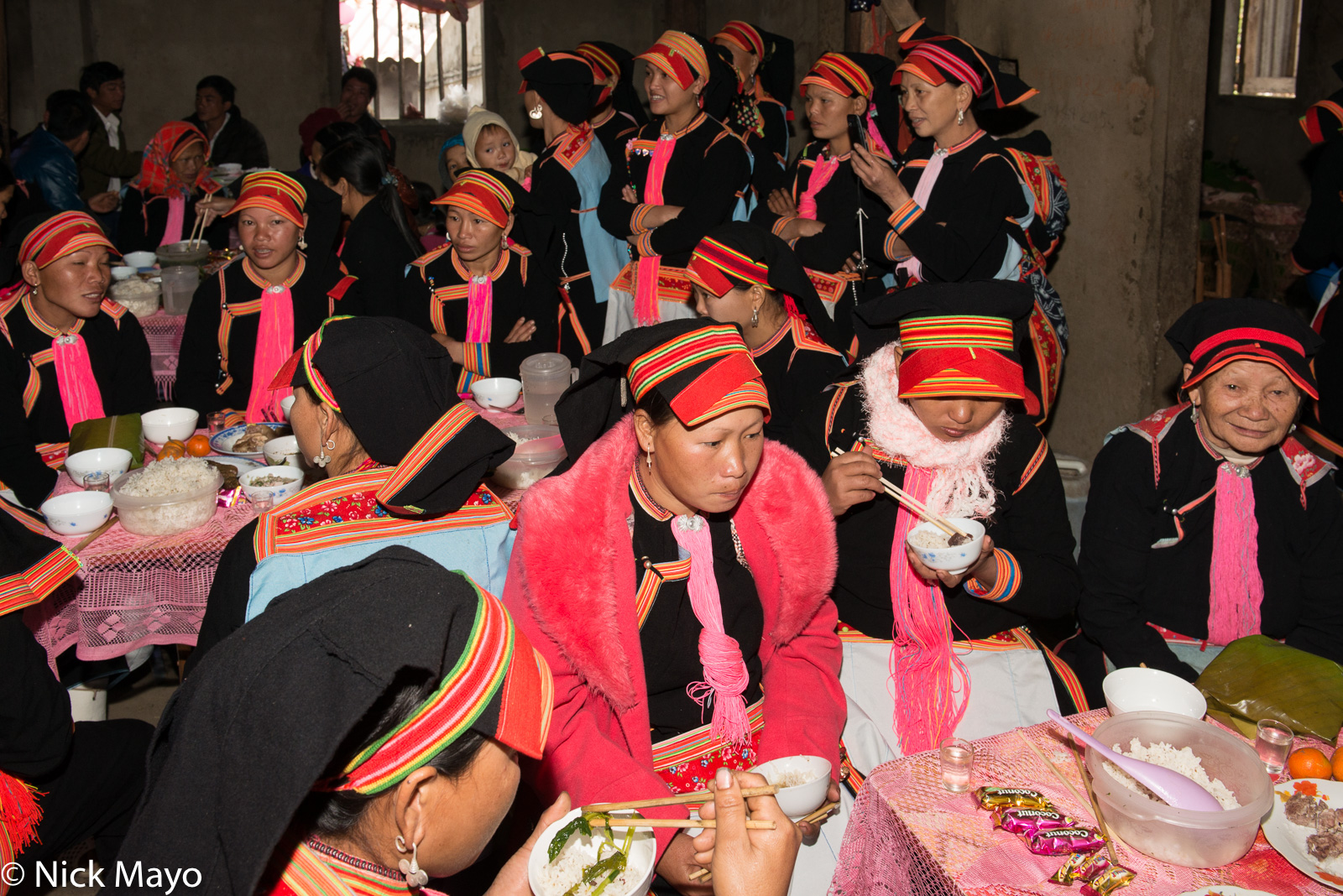 Earring, Hat, Lai Chau, Vietnam, Wedding, Yao, photo