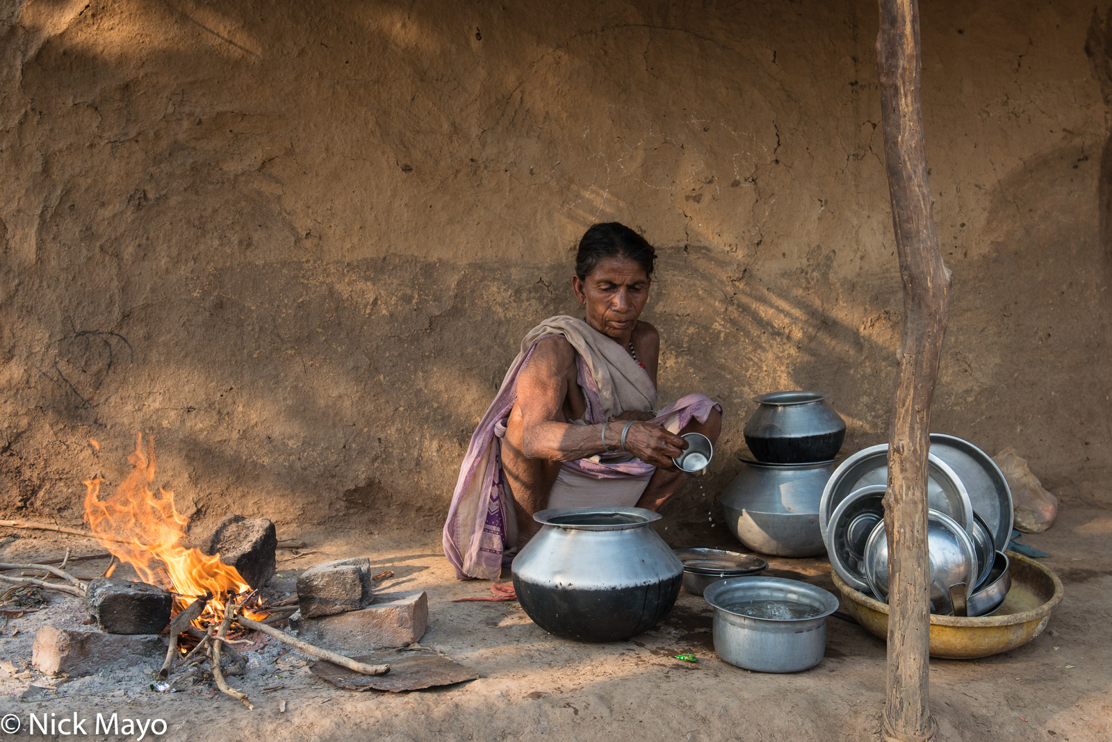 Chhattisgarh, Gond, Hearth, India, photo