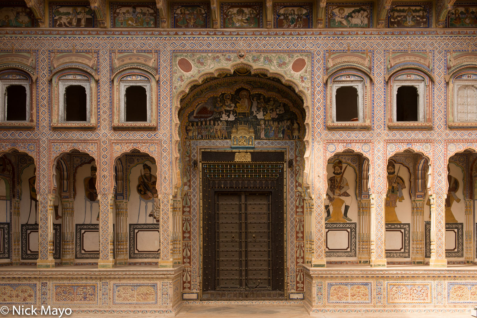 Doorway, India, Mural, Rajasthan, photo