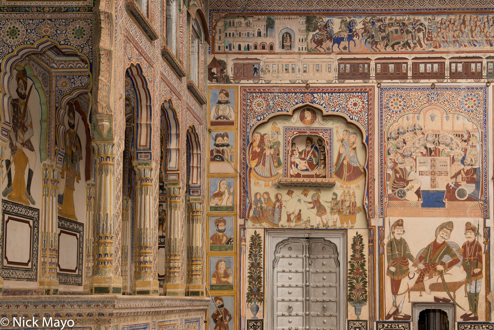 India, Mural, Rajasthan, photo