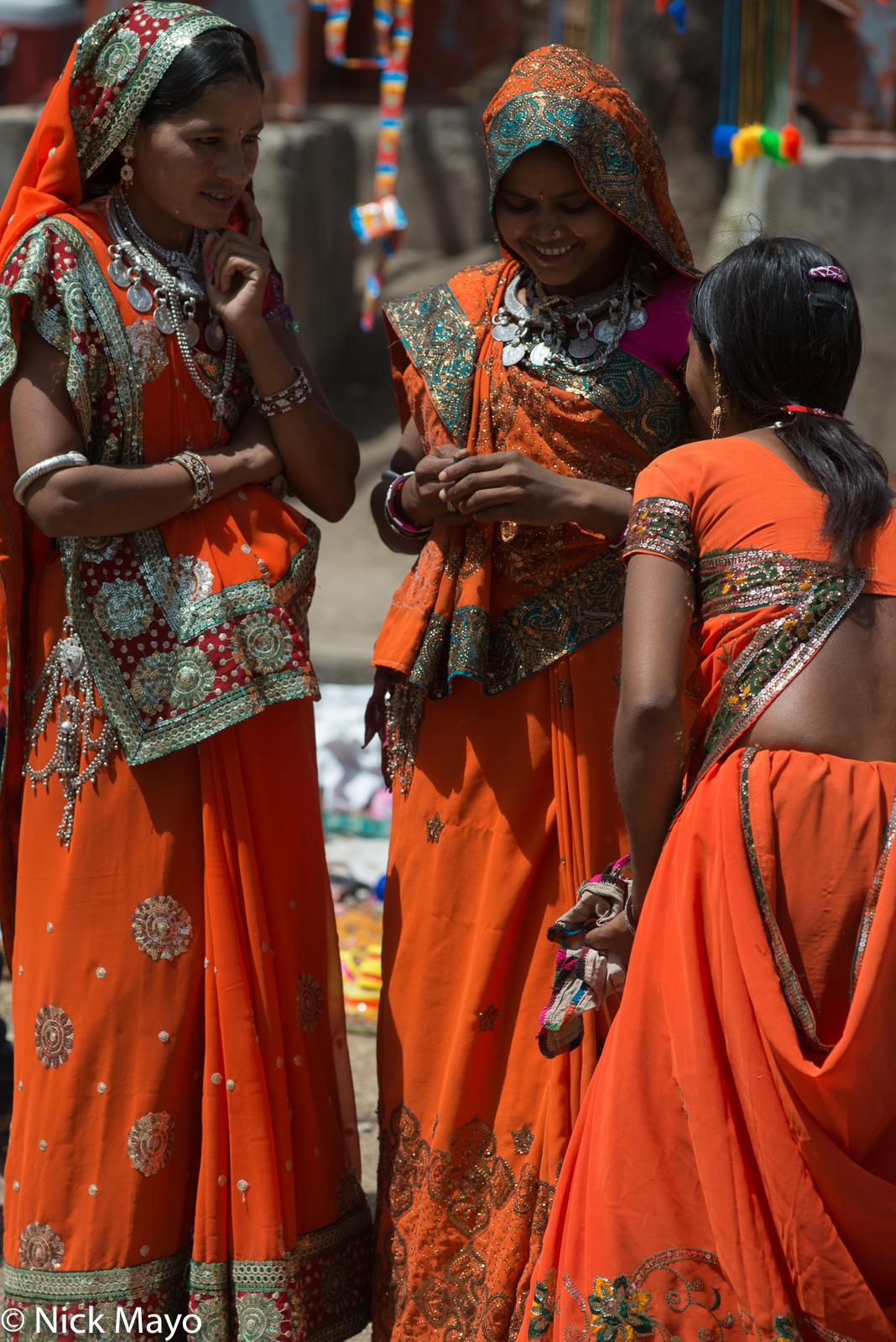 Bhil, Head Scarf, India, Madhya Pradesh, Necklace, photo
