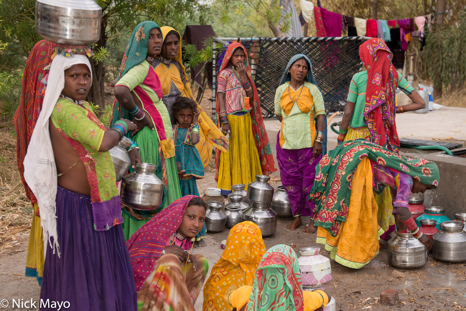 Fetching Water, Gujarat, India, photo