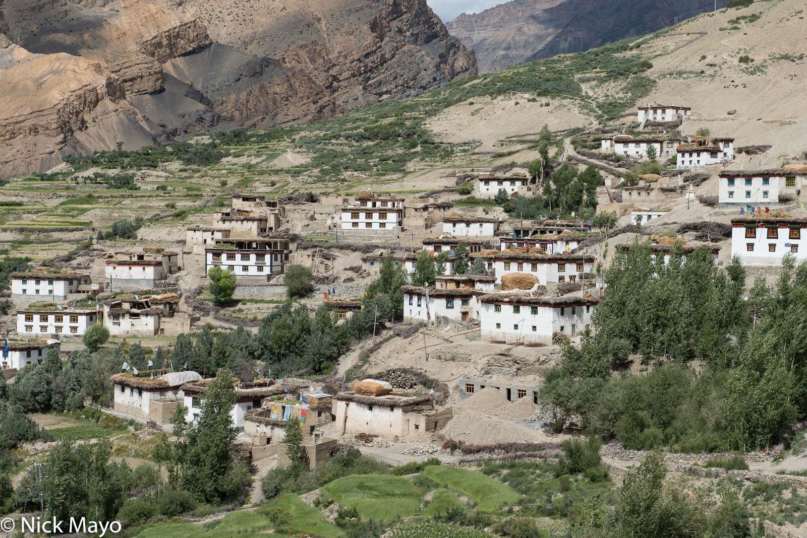 Lhalung village in Spiti.