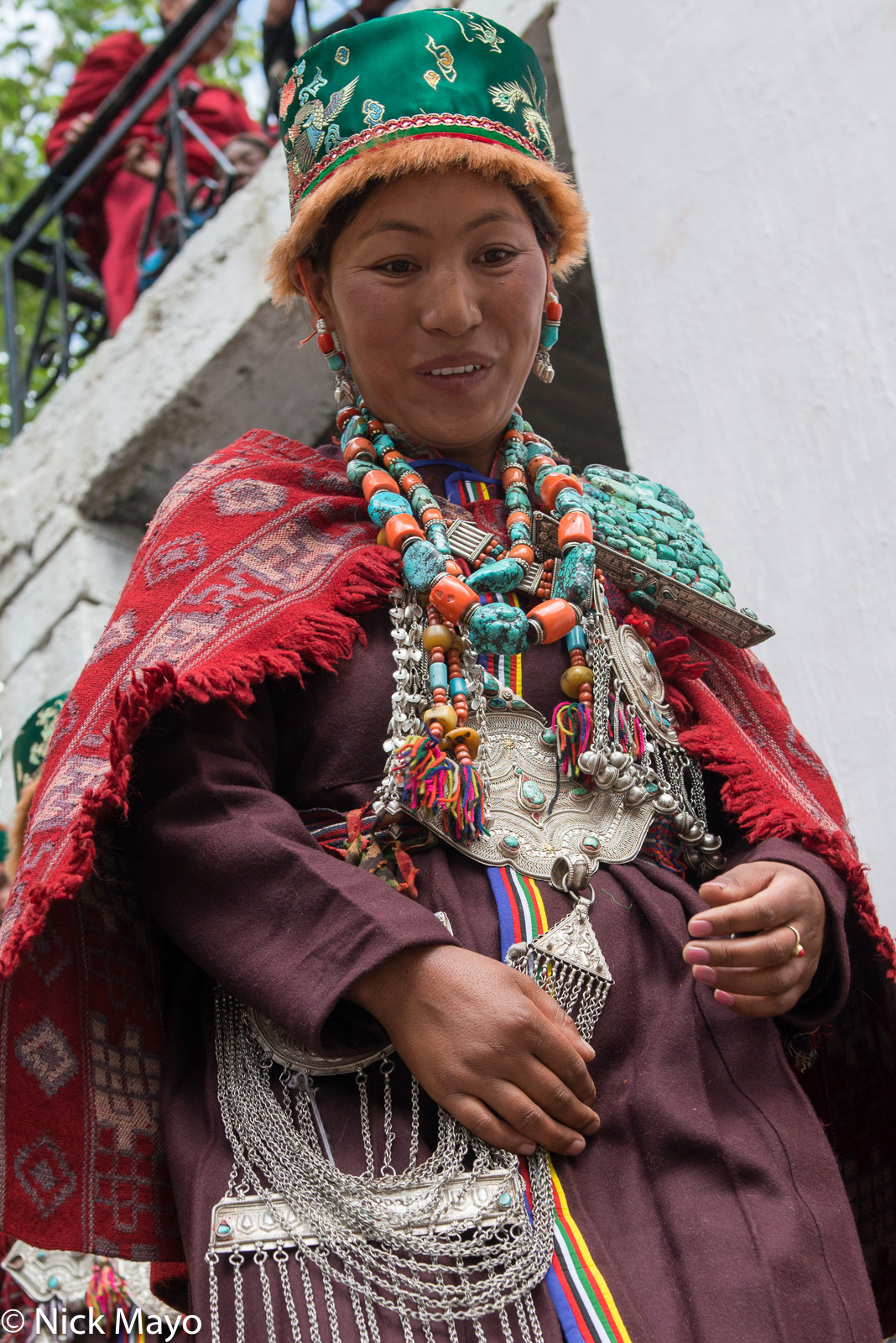 Breastpiece, Cape, Earring, Festival, Hat, Himachal Pradesh, India, Necklace, photo
