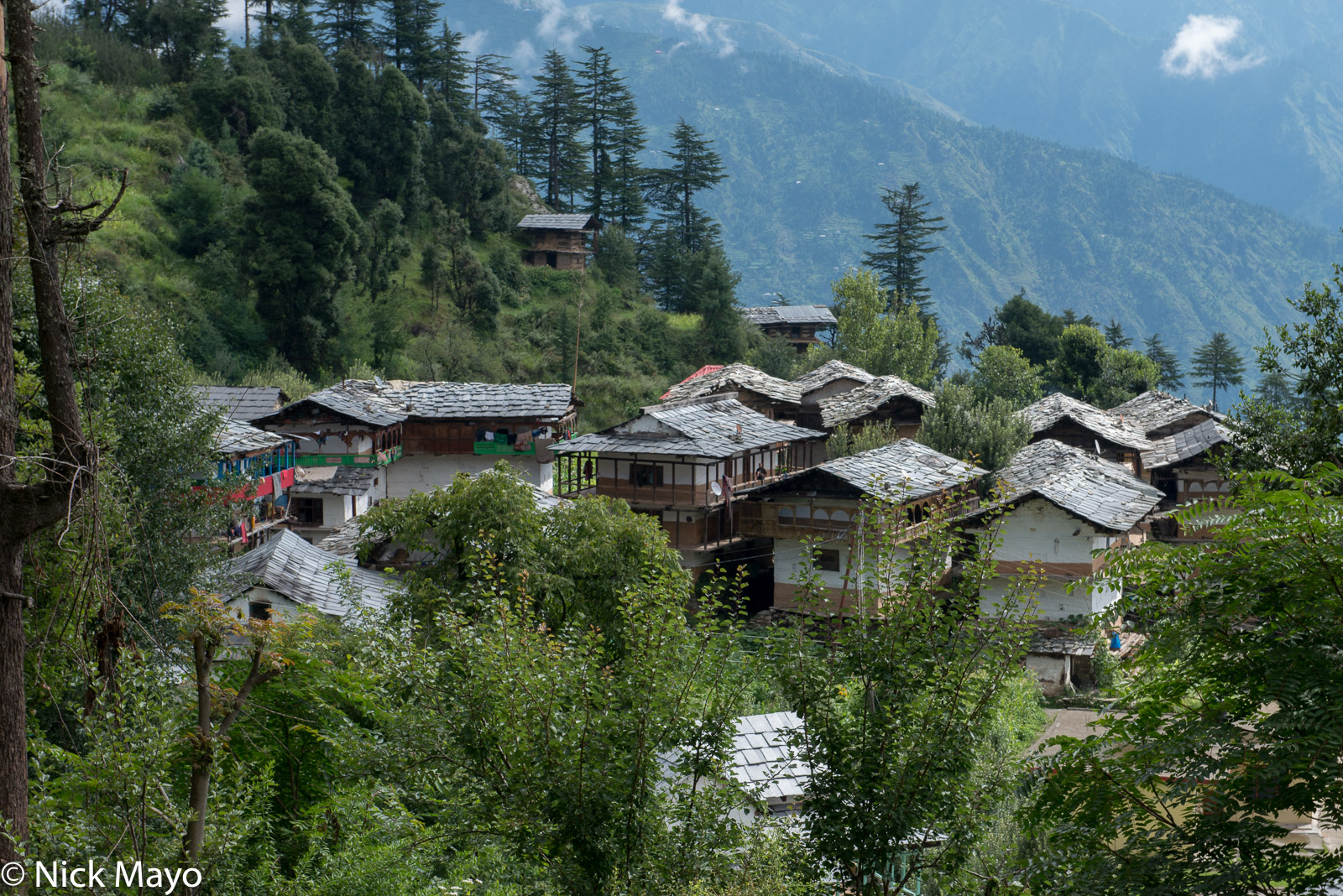 Himachal Pradesh, India, Roof, Village, photo