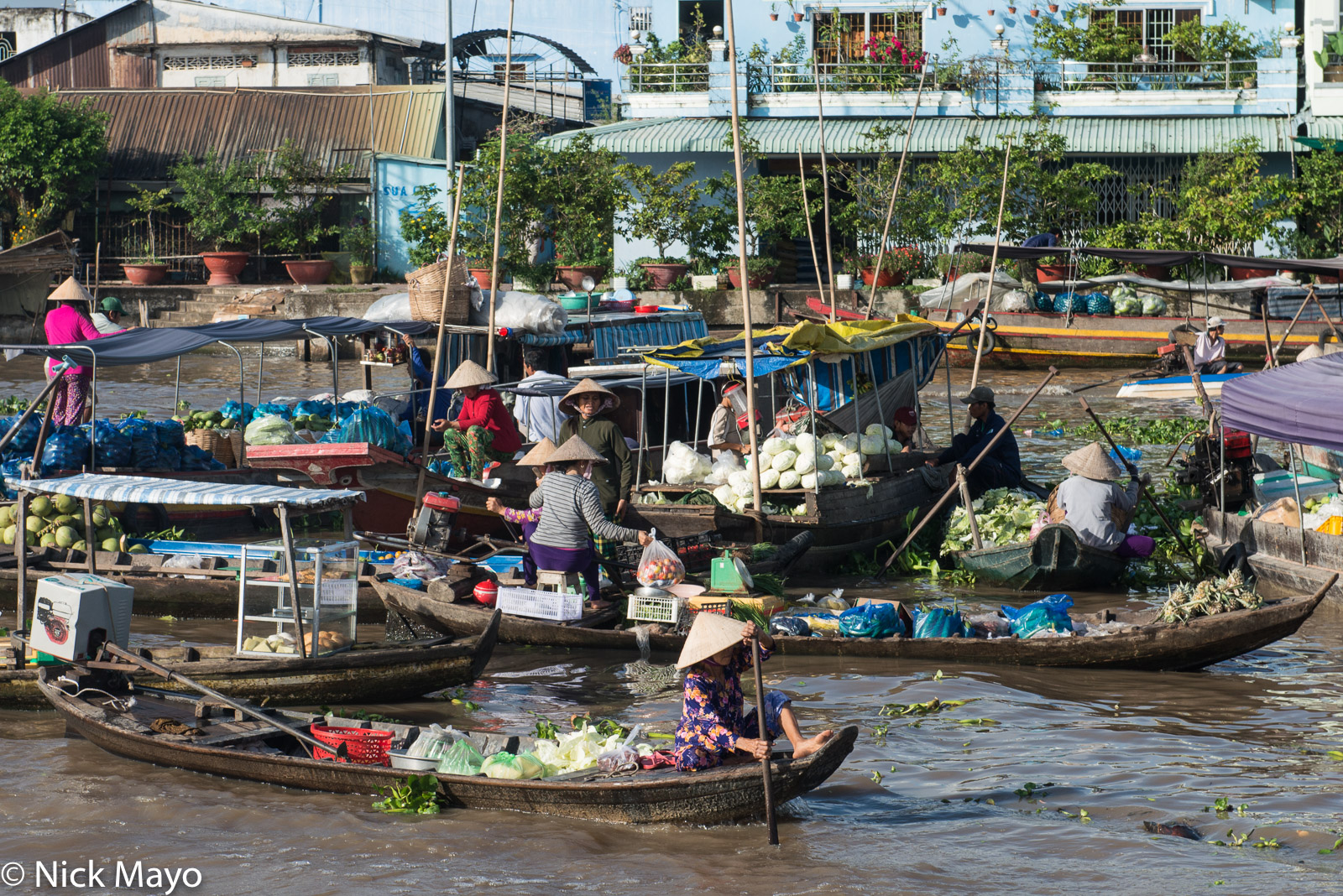 Boat, Market, Soc Trang, Vietnam, photo