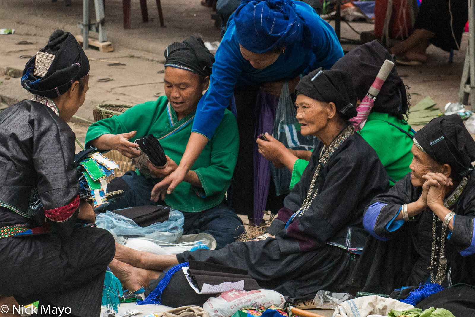 Bracelet, Ha Giang, Head Scarf, Market, Necklace, Vietnam, Zhuang, photo