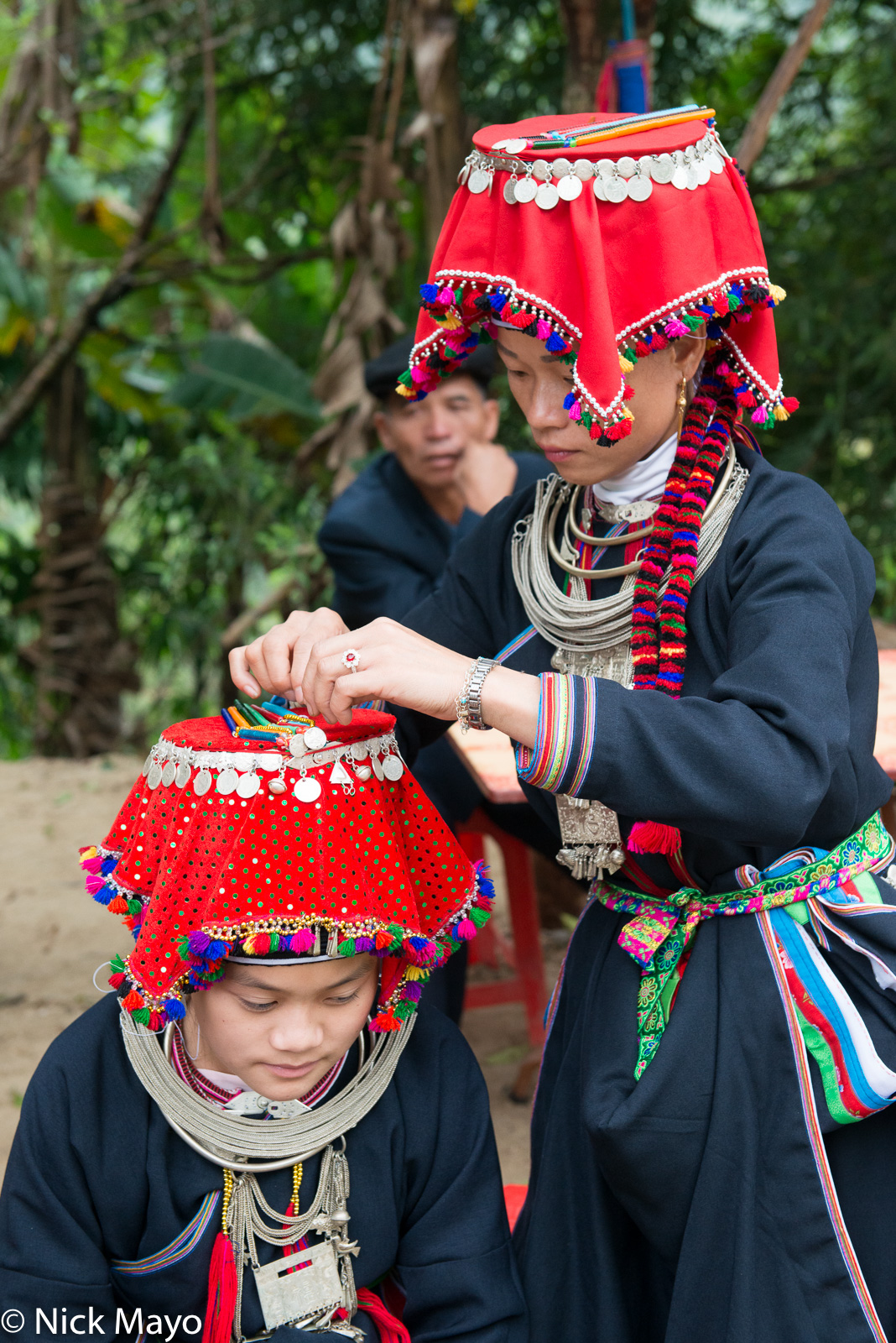 Breastpiece, Ha Giang, Hat, Necklace, Vietnam, Wedding, Yao, photo
