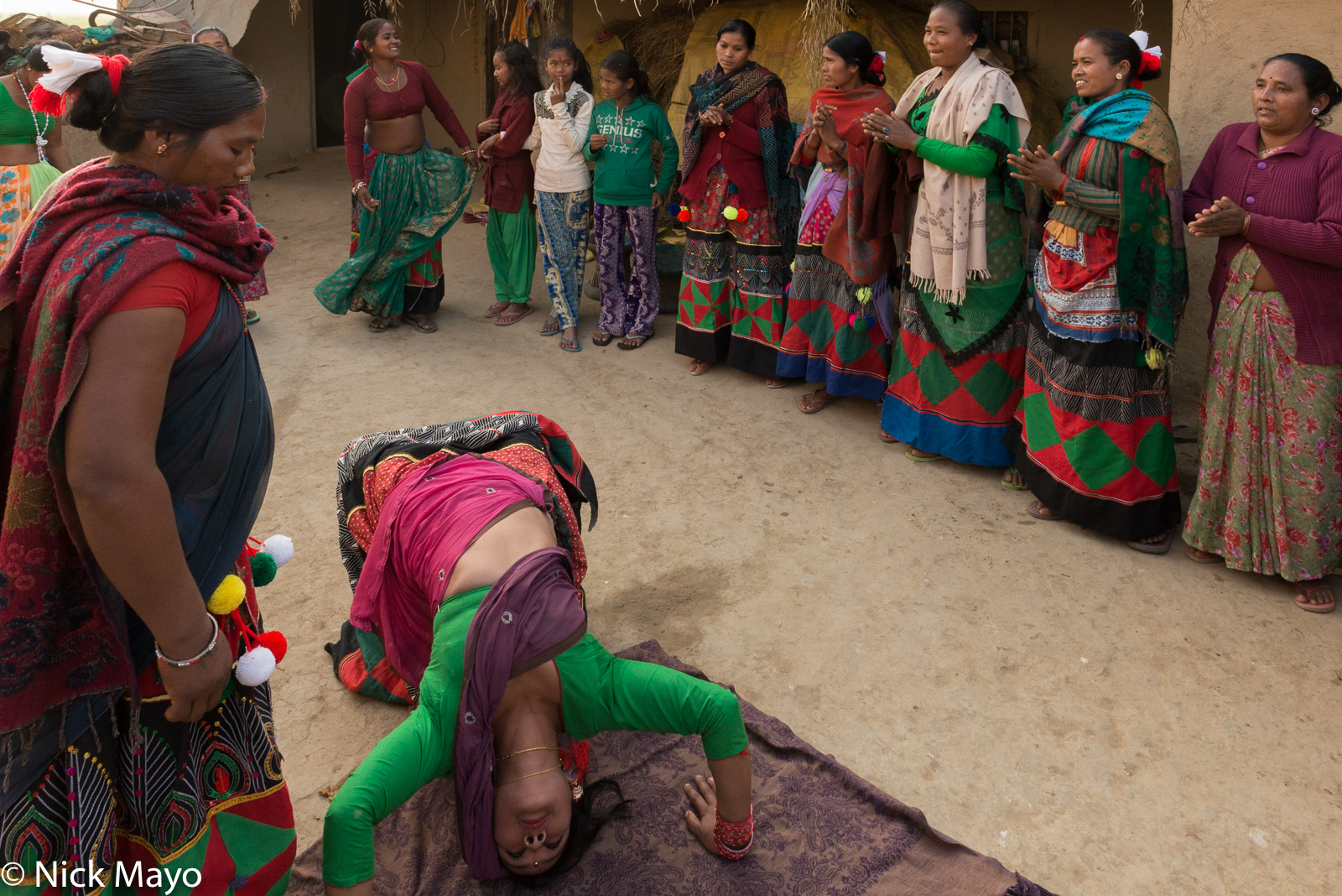 Dancing, Festival, Nepal, Terai, Tharu, photo