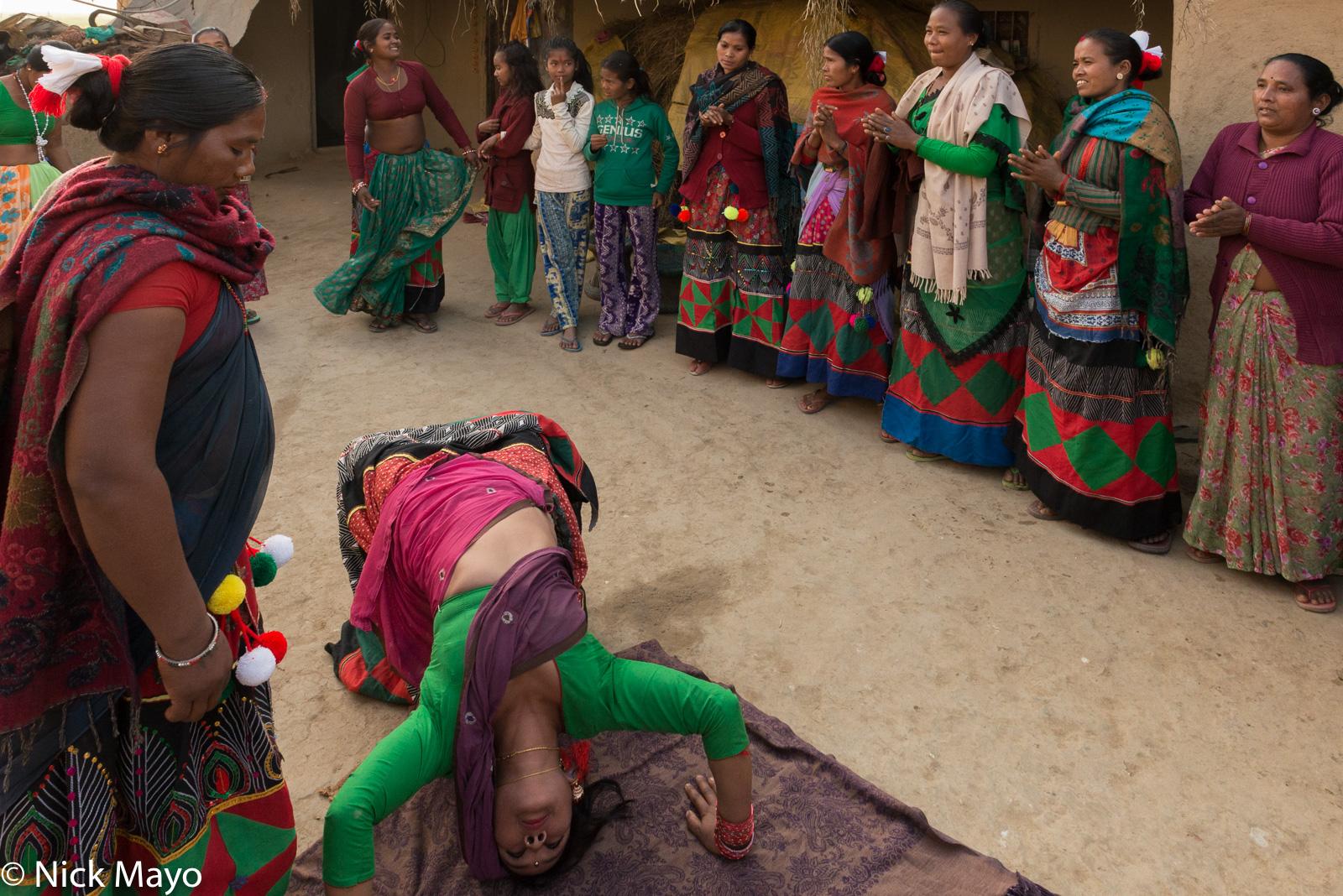 Dancing, Festival, Nepal, Terai, Tharu, photo